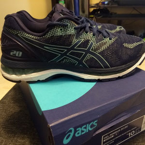 Women's Asics Gel-Nimbus 20, 10W, Blue/Green